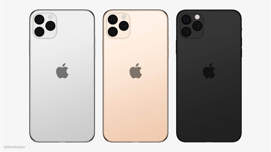 概念設計師 Ben Geskin 根據傳聞,製作了 2019 年新 iPhone 的渲染圖,將蘋果 LOGO 置放在機身背面中央,也將底部的 iPhone 字樣移除。(摘自Twitter)