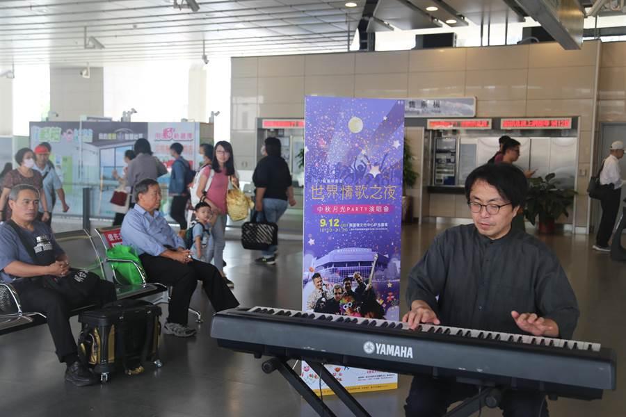 爵士鋼琴家黃盟傑,將帶來即興鋼琴演奏。(葫蘆墩文化中心提供/陳淑娥台中傳真)