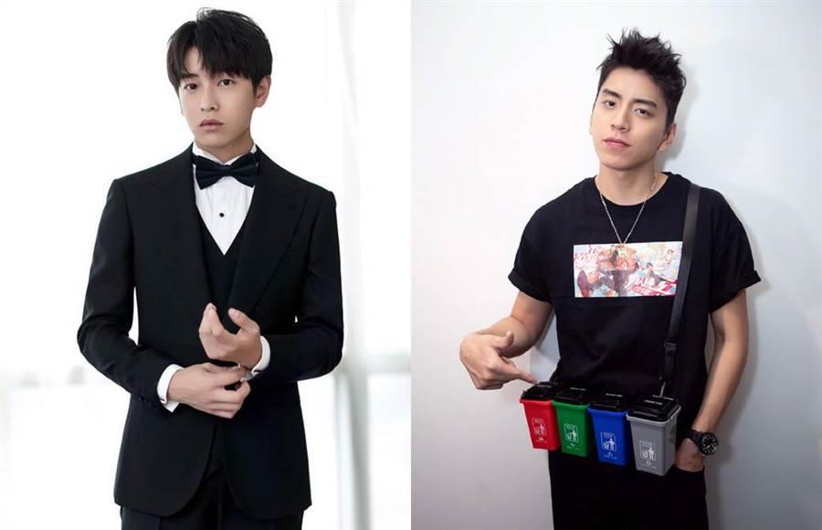 彭昱暢(左)的工作室表示,他們才是電影的一號男主角,演出順序排成二號男主角違反合約。(合成圖/翻攝自微博)