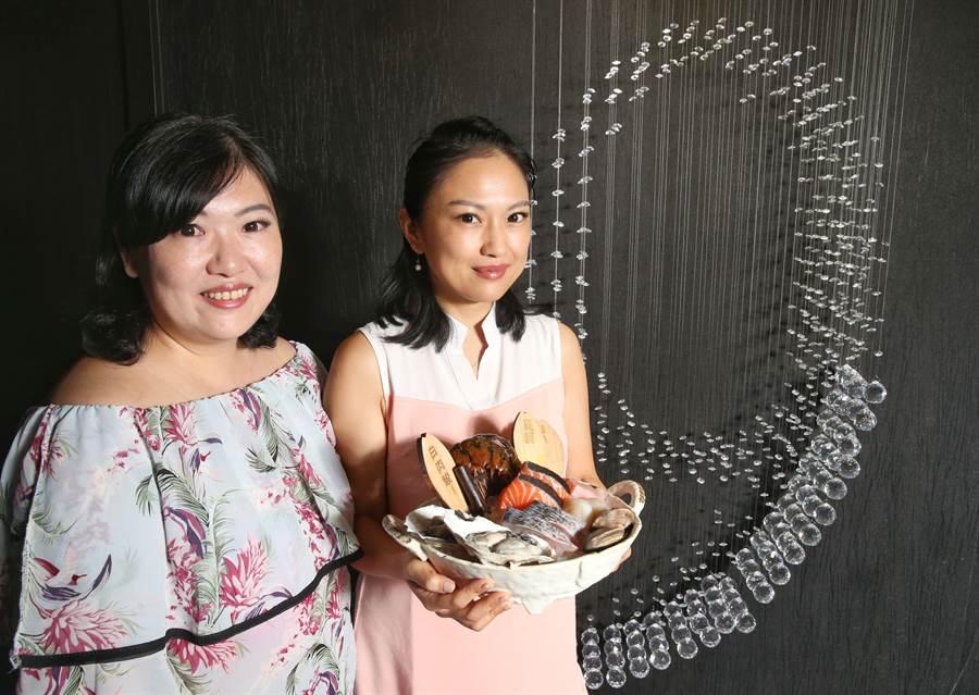 大安9號由謝宜倩、謝宜穎姊妹經營,店內主打頂級海鮮食材。(王英豪攝)