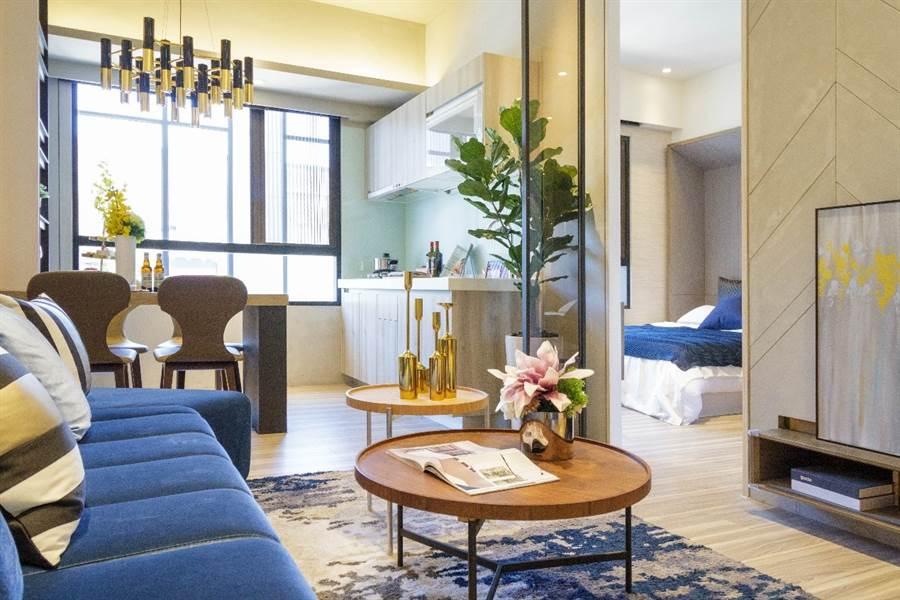 「新潤興業 鉑麗」採高坪效規劃,善用每寸空間。