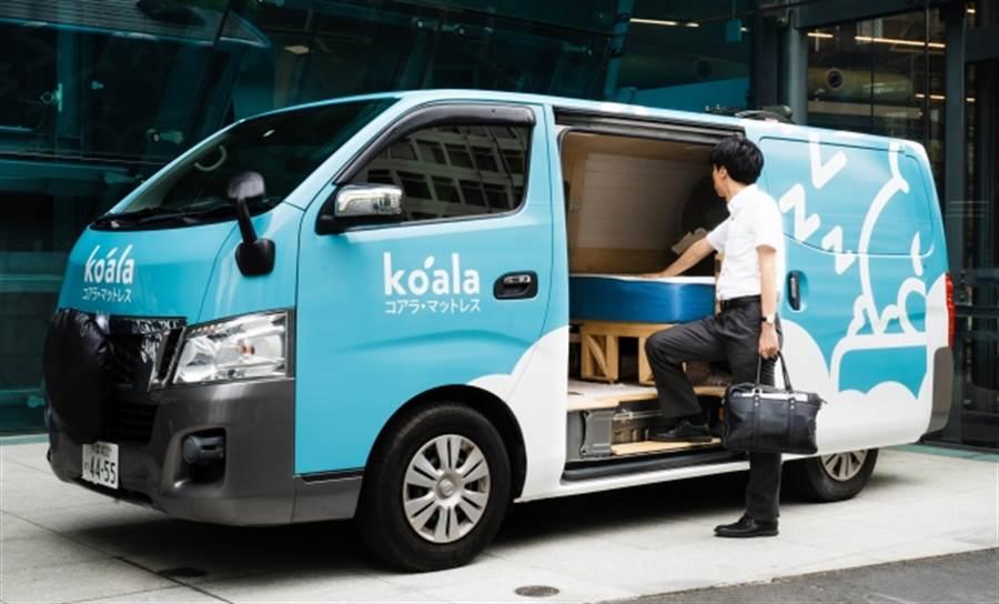 日本睡眠科技公司Koala Sleep Japan推出午睡空間外賣服務,麵包車改裝的臥鋪趴趴走,提供疲憊上班族小憩的空間。(圖/摘自Koala Sleep Japan官網)