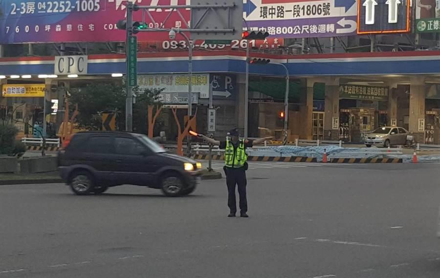 台中市警察局預估,市區道路將湧入大量返鄉及觀光旅遊車潮,為維持重要道路交通安全及順暢,將實施交通管制。(台中市警局提供/張妍溱台中傳真)