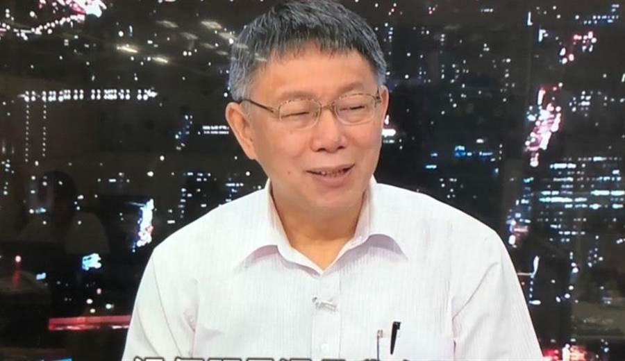 台北市長柯文哲今接受電視台專訪。