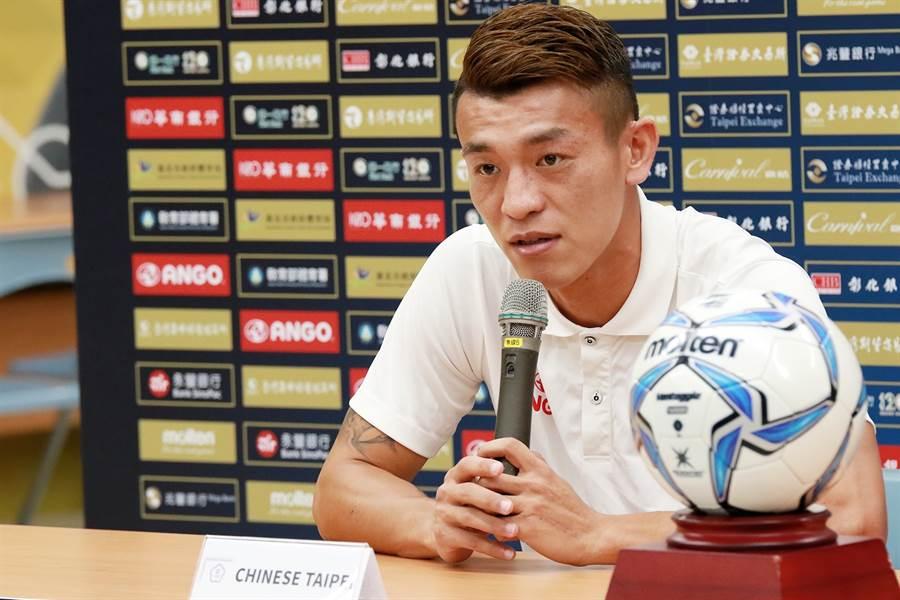 中華男足隊長陳伯良要率領隊友在世界盃資格賽第二輪與尼泊爾的對戰,帶回重要的3分積分。(中華足協提供)