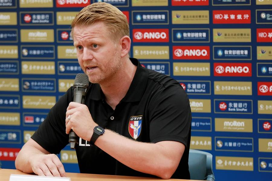 中華男足總教練蘭卡斯特相信球員表現。(中華足協提供)