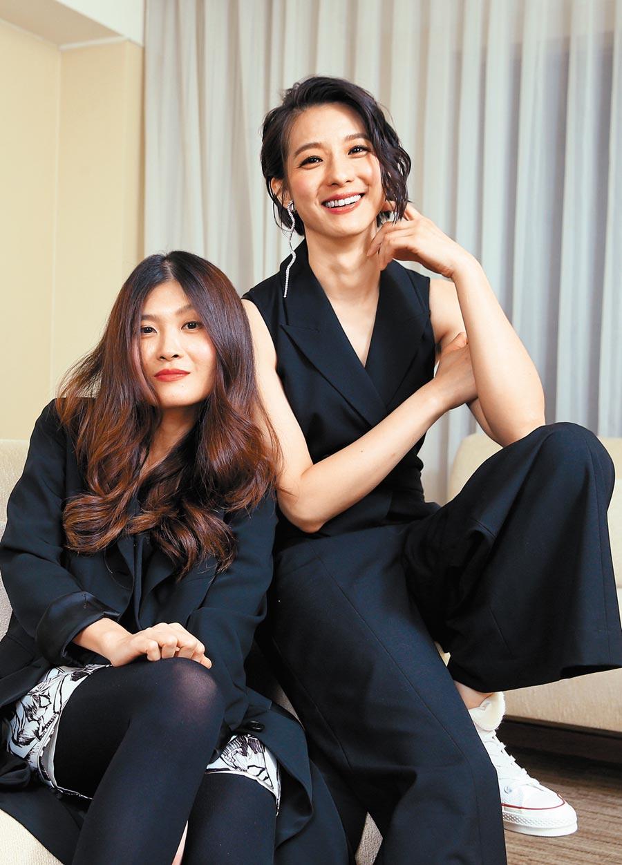 導演麥曦茵(左)對賴雅妍演技讚不絕口,盼能再合作。(粘耿豪攝)