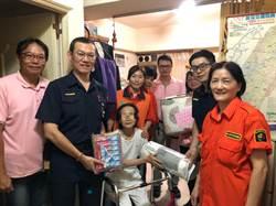 慈善協會結合海山警 捐贈物資關懷弱勢家庭