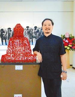 許文融獨創草書雕塑 驚艷兩岸文藝界