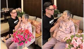 朱正生慟別93歲母親     忍淚為母塗脣膏當美麗天使