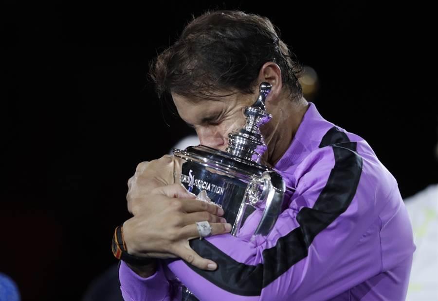 納達爾勇奪2019美網男單冠軍。(美聯社資料照)