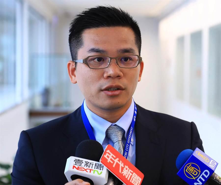 台中市政府新聞局長吳皇昇指出,台中市民對市府團隊的施政滿意度呈現穩定成長趨勢。(台中市政府新聞局提供/陳世宗台中傳真)