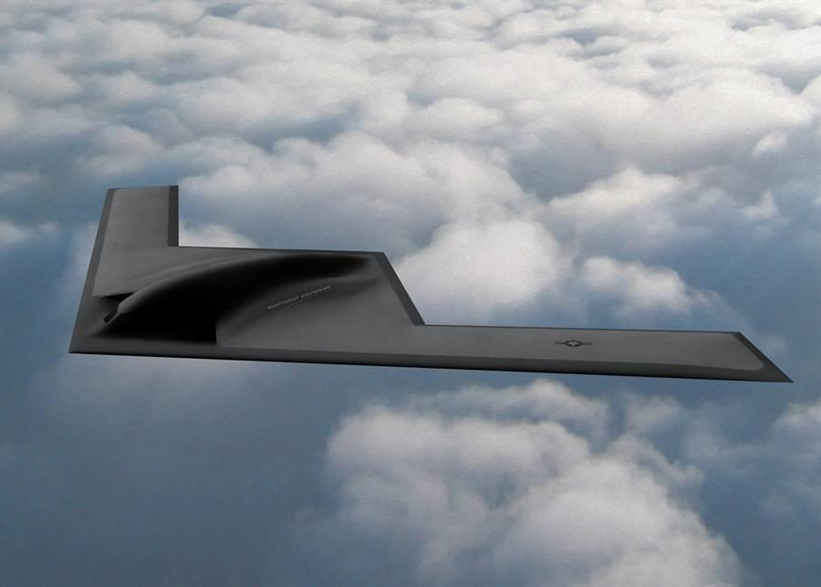 美國空軍透露,B-21匿蹤轟炸機將有一定的自衛能力,其中包括可以發射空對空飛彈,換言之,它也可以是一種大型戰鬥機。(圖/美國空軍)