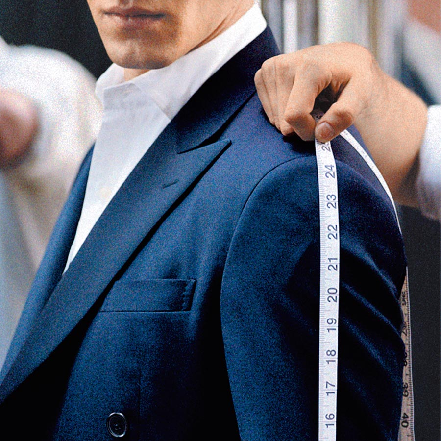 台北101獨家推出POLO Ralph Lauren訂製西裝系列。(台北101提供)