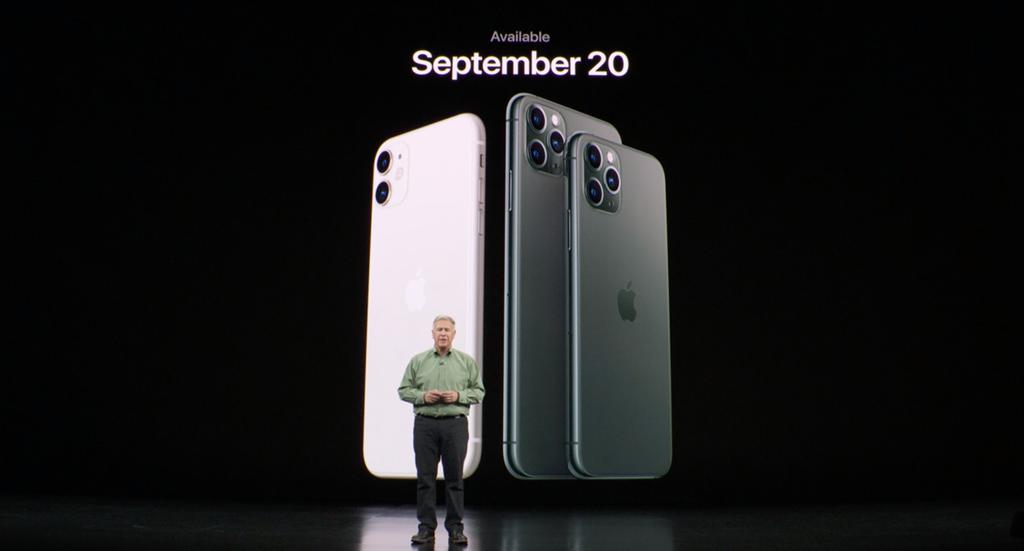 蘋果正式發表IPhone 11系列三款新機,到底應該怎麼選?(摘自蘋果官網)