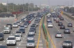 國道3路段紫爆 時速10幾公里