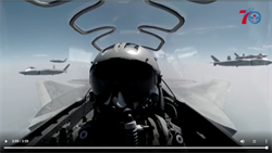陸發佈最新空軍宣傳片 殲20編隊座艙視角曝光