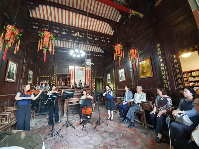 台南後壁黃家古厝音樂會今年邁入22年。(莊曜聰攝)