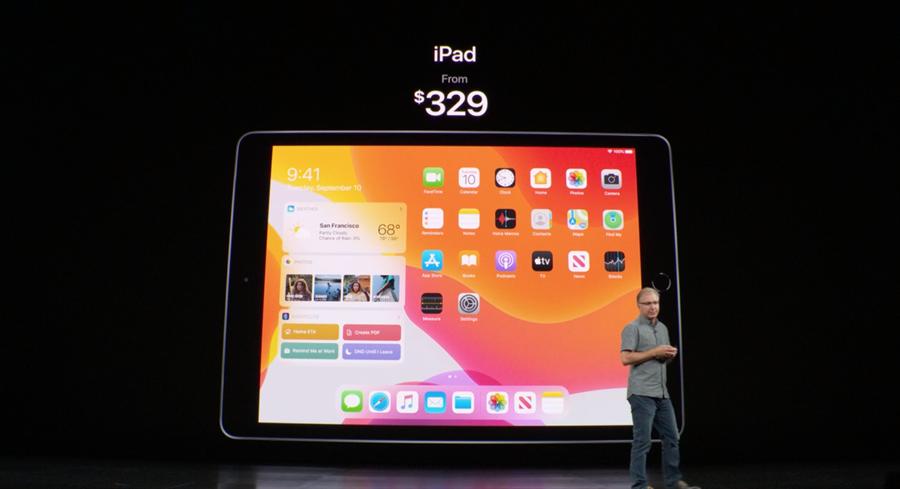 蘋果發表第七代iPad。(摘自蘋果官網)