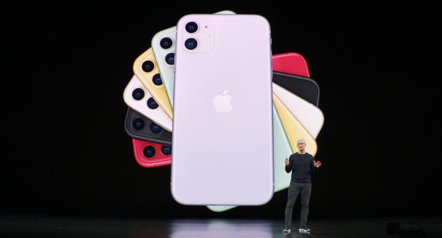全新六色iPhone 11亮相。(摘自蘋果官網)