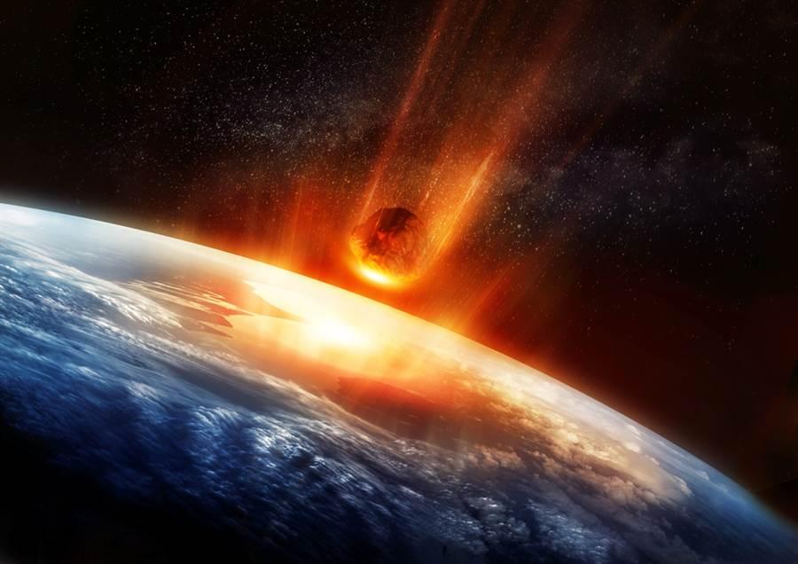 科學家從岩石沉積還原行星撞擊地球、造成恐龍大滅絕的情景。(示意圖/shutterstock)