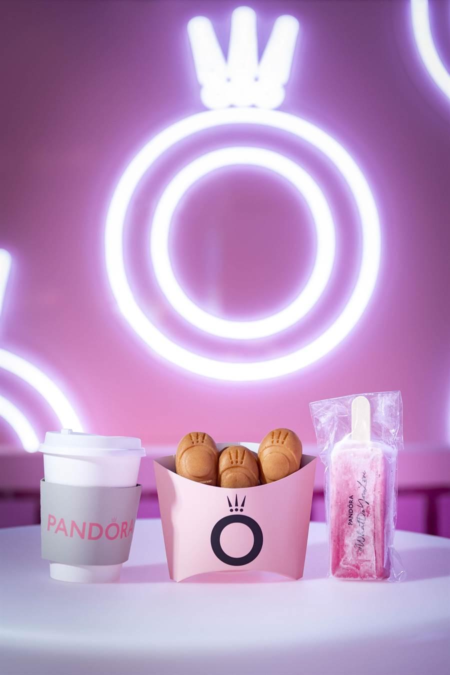 PANDORA「#WhatDoYouLove」體驗展美麗又甜蜜的限量點心。(PANDORA提供)