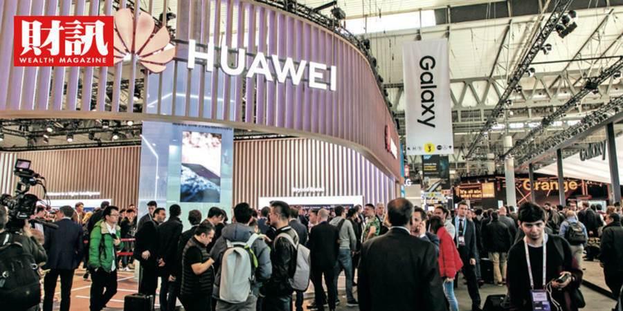 華為在2019年MWC搶先發表5G手機,也被美國視為科技競爭上的勁敵。(圖/吳尚哲攝)