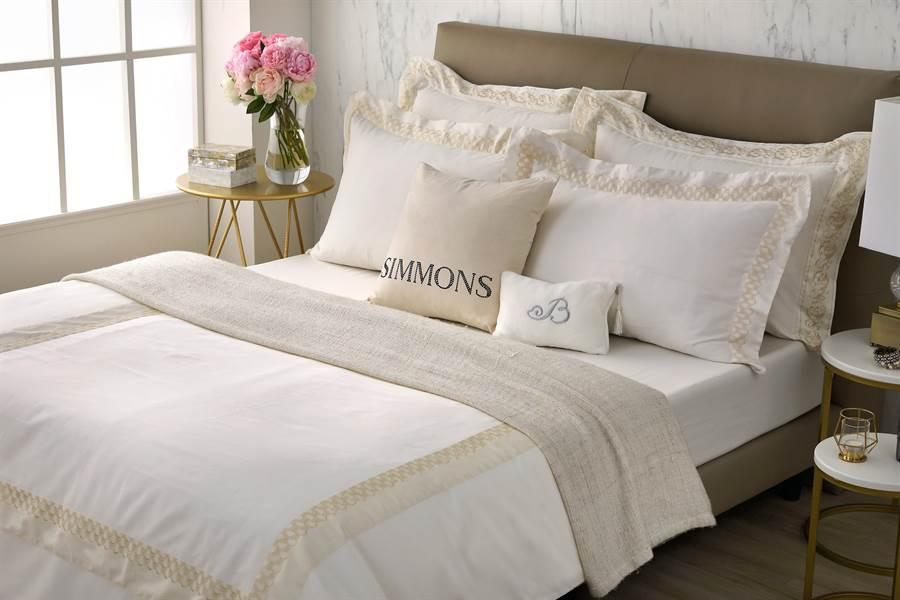 買特定床款 贈送米蘭星璨系列寢具四件組_原價3萬5000元(雙人尺寸)。(席夢思提供)