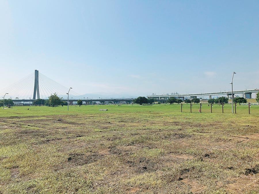 韓造勢場地已鬆土植草積極復原,使用地超額補繳21萬。(戴上容攝)