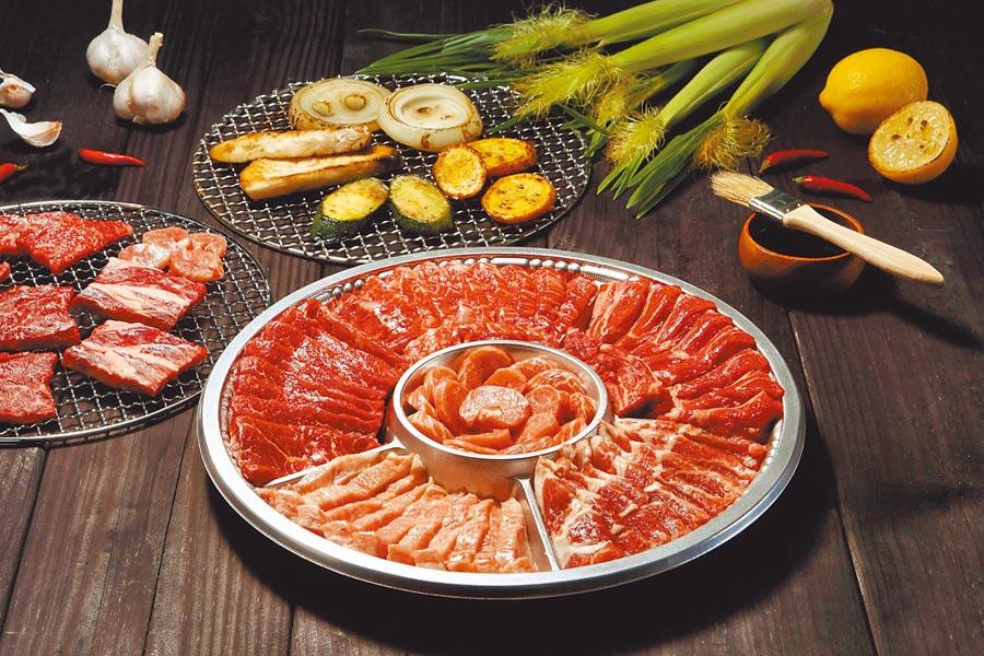 ROU職人手切牛豬雙拼烤肉組,900g,1980元。(ROU提供)