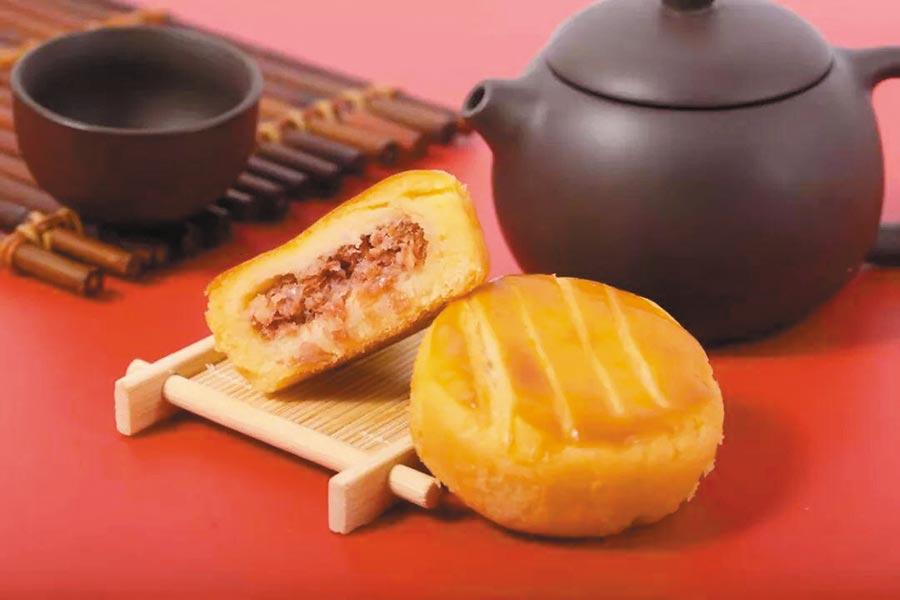 大陸商家推出的人造肉月餅。(取自微博@股市論金)