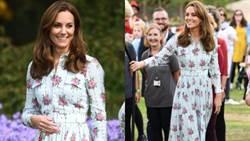 用顏值穿衣!凱特王妃完美駕馭鄉村感印花裙