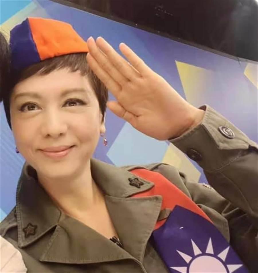 熊海靈投書中時 ,「攘外必先安内,國民黨出手吧!」(摘自熊海靈臉書)