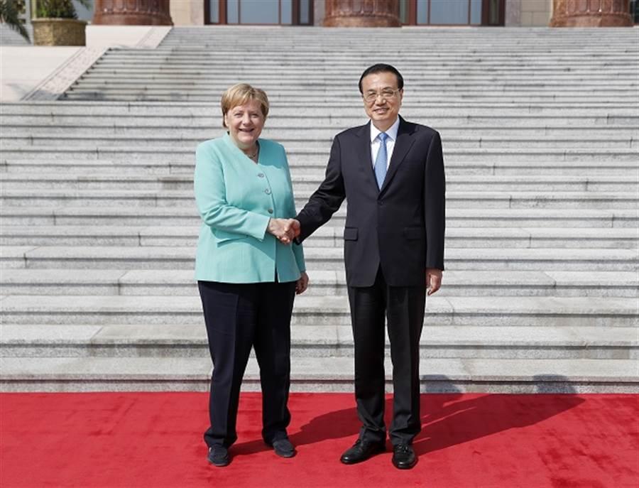 大陸國務院總理李克強與德國總理梅克爾。(中新社資料照)