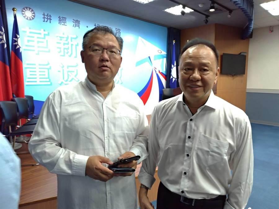 國民黨中常委李德維(左)、李昭平。(黃福其攝)