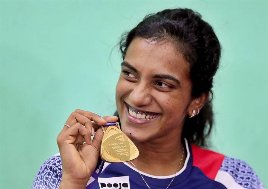 羽球女將辛度是首位帶走世錦賽金牌的印度選手,8強賽擊敗戴資穎對她是很重要的一勝。(資料照/美聯社)