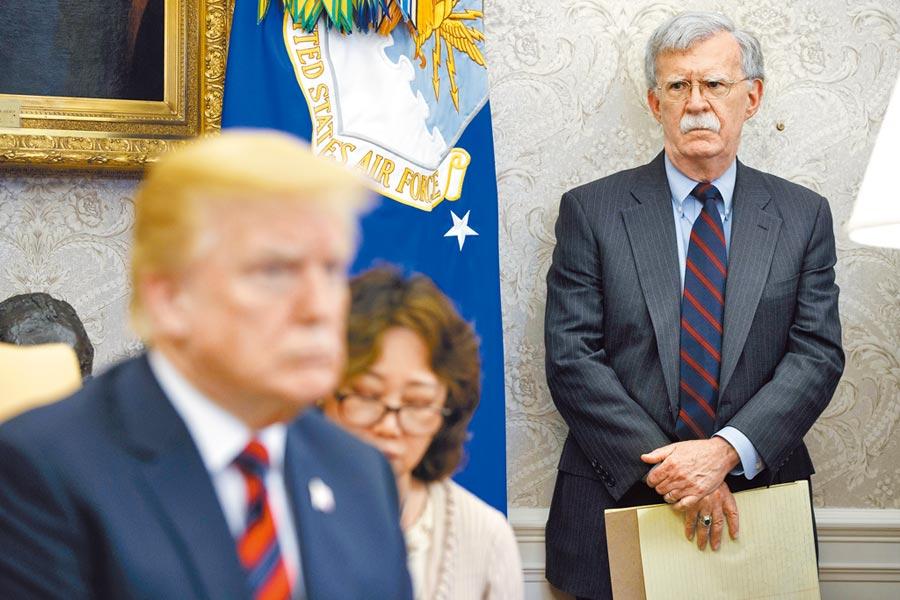 長期對台友好的原國安顧問波頓,因為失去了總統川普的信任,黯然下台。(美聯社)
