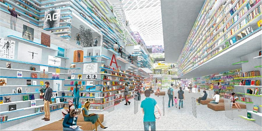 新竹市圖書館新總館將由台日團隊打造引入風與光影的「知識峽谷」,成為新竹全方位城市知識新地標。(市府提供/羅浚濱新竹傳真)
