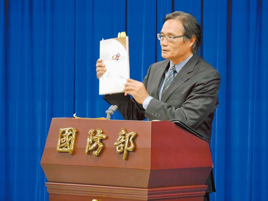 國防部諮詢委員翁明賢表示,共軍近年機艦繞台次數遠比公開的多很多。(記者張國威攝)