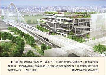 中科路橋年底完工 水湳智慧城夯
