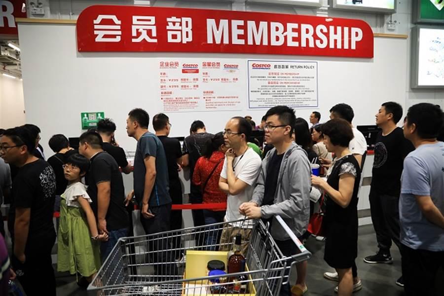 上海Costco推殺手級產品,網笑:「才剛退卡,又要去辦了」。(中新社資料照)