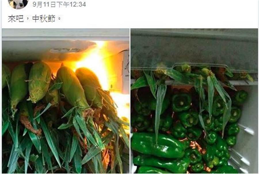 網友PO出中秋烤肉食材。(圖/爆廢公社公開版)
