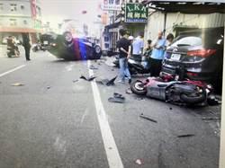 永康酒駕連環撞 16輛車及3店家遭殃