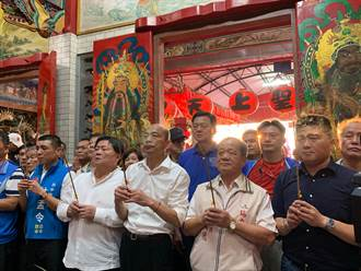 韓國瑜參拜大肚瑞安宮 高呼台灣安全人民有錢