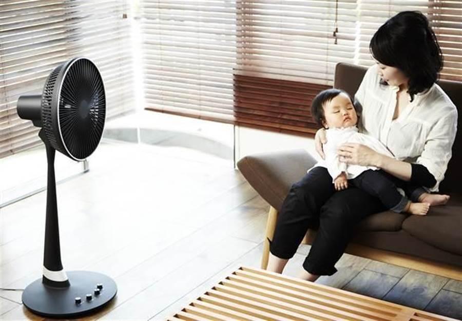 研究顯示,睡覺時吹電扇可預防嬰兒猝死症候群。(圖/本報資料照)