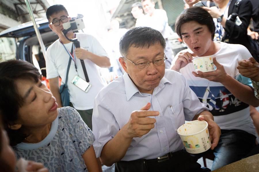 台北市長柯文哲。(袁庭堯攝)