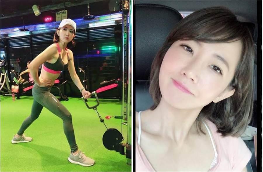 謝忻中秋節仍積極健身,她吐實:「為了烤肉還有月餅」。(圖/取材自謝忻Instagram(圖左)、外景小公主- 謝忻的粉絲團臉書)