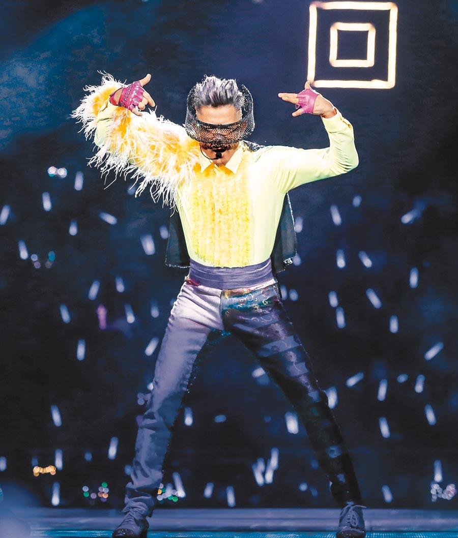 郭富城昨起一連兩晚在台北小巨蛋開唱。(盧禕祺攝)
