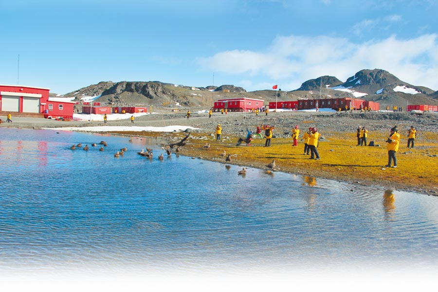 南極長城站開展旅遊後,南極歷史遺址和紀念物將對外開放,長城站其他建築則不開放。(CFP)