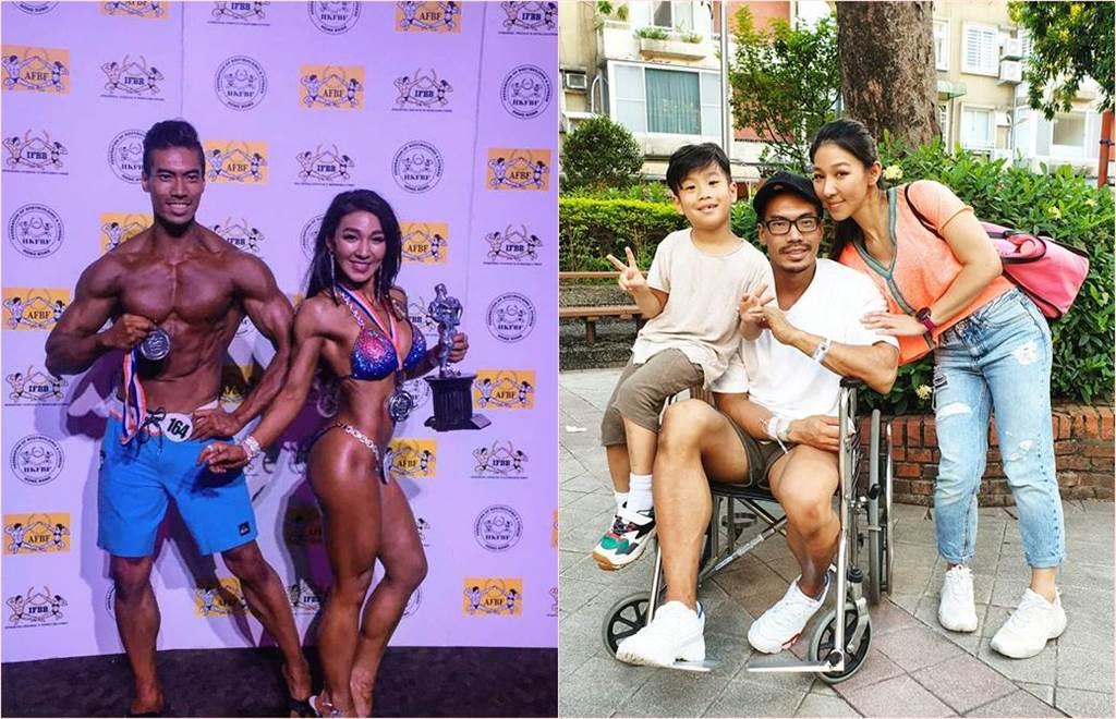 筋肉爸爸與筋肉媽媽是知名健身健美達人,常出國比賽拿獎也是教練和綜藝節目常客,沒想到筋肉爸爸上週竟突然中風。(合成圖/翻攝自筋肉媽媽臉書)